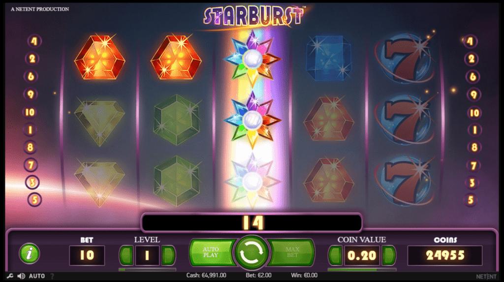 starburst winning spin