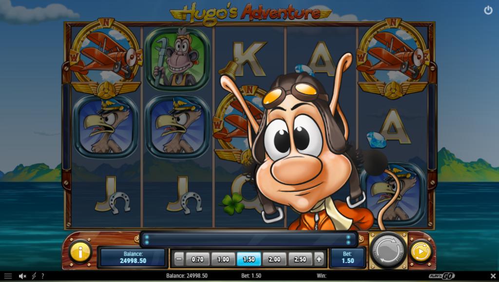 Hugo's Adventure slot machine