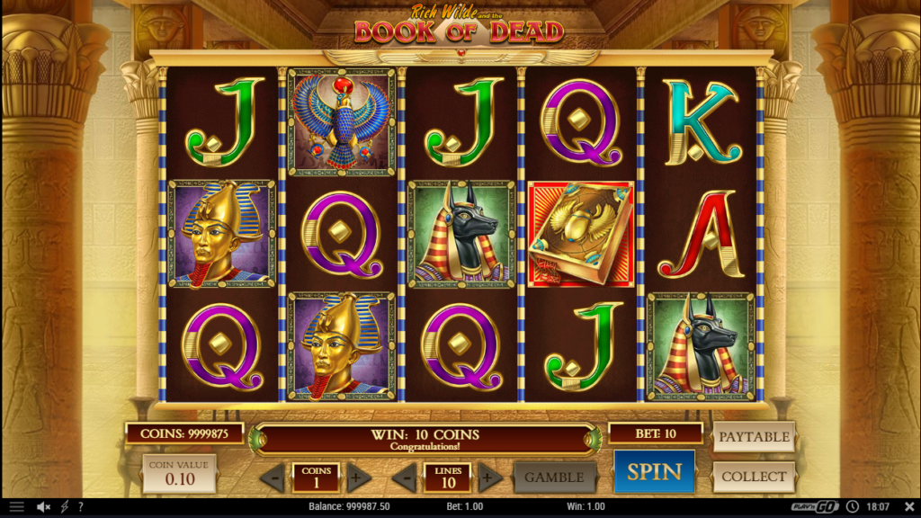 Rich Wilde And The Book Of Dead Slot Machine