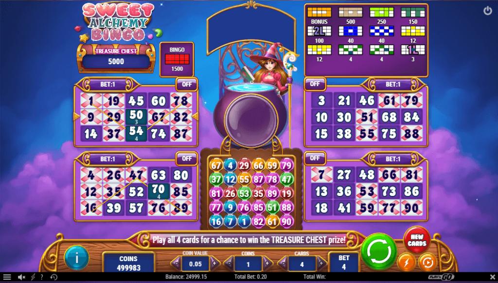 Sweet Alchemy Casino Bingo