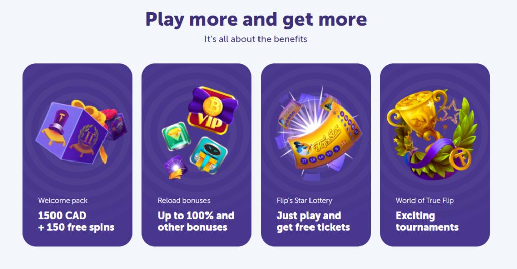 True Flip casino advantages