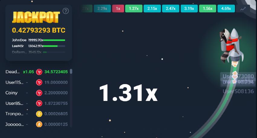 Bitcoin Crash game at Betfury